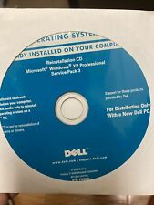 Dell Reinstall CD Microsoft Windows XP Professional Service Pack 3 sealed New