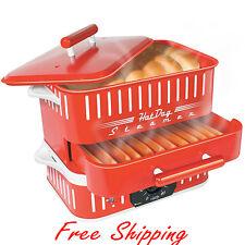 Hot Dog Steamer Cooker Electric Grill Bun Warmer Sausage Bread Steam Countertop