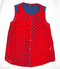 Spotted Collared Sleeveless Girls' T-Shirts & Tops (2-16 Years)