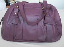 Tommy & Kate Leather Burgundy Weekend Bag