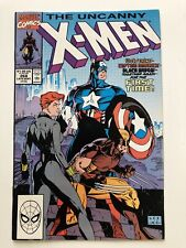 Uncanny X-Men #268 Captain America, Wolvorine Black Widow Avengers Vintage High