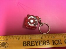 Las Vegas Key Chain Dice with the name Ashley's