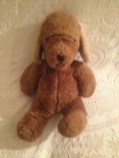 "VIntage 1984 11"" Gund Olympic Brown Puppy Dog Plush Stuffed"