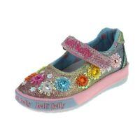 Lelli Kelly Classic Girls Black Patent School Shoe size eu kids hook loop