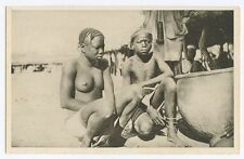 Africa Black Nude woman MALINKES Girls original old 1920s postcard
