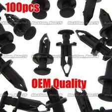 Set Of 100 ATV Retainer Clips 8mm Push Pin Splash Guard Body Panel Fit For Honda