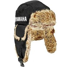Yamaha Trapper Fur Hat by FXR in Black w/ Yamaha Logo - One Size