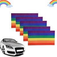 3Pack Rainbow Lesbian Gay Pride LGBT Vinyl Sticker Decal for car, ute,New G S0F9
