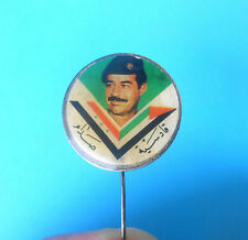 SADDAM HUSSEIN - Iraq ex president ... nice old rare pin badge