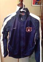 Nike Auburn Jacket Boys Large Windbreaker Blue SEC War Eagle Long Sleeve 16/18