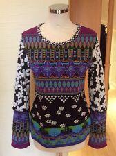 Olivier Philips Sweater Size 14 BNWT Purple Green Blue Black RRP £131 Now £52