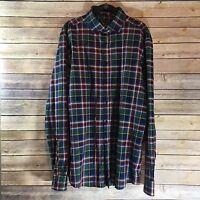 H&M Premium Cotton Multi Color Plaid Long Sleeve Button Down Shirt Size XL