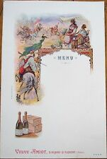Wine/Champagne 1900 French Advertising Menu w/Arabian Scene - Veuve Amiot