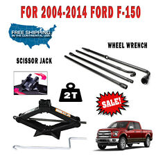 2T Scissor Jack + Spare Tire Tool Kit Lug Wheel Wrench For 2004-2014 Ford F-150