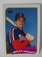 1989 Topps Wally Joyner California Angels Wrong Back Error Baseball Card