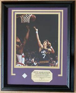 NBA Hall of Famer Pete Maravich 'Pistol Pete' Game Used Memorabilia
