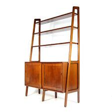 Retro Vintage Danish Walnut Bookcase Book Shelving Cabinet Room Divider Teak