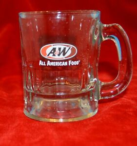A & W ROOT BEER baby MUG  All American Food oval logo GLASS
