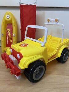 1995 Mattel Vintage Barbie Baywatch Beach Jeep With life boat + Stretcher