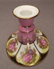 H.W. Porzellan Karlsbader Kerzenständer Kerzenhalter gold rosa Verliebtes Paar