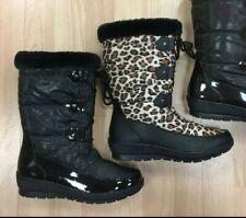 Señoras ella Botas de nieve, Negro o Leopardo
