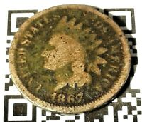1867 Indian Head Cent Penny 1c US Coin