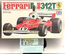 """Tamiya 1/12 Ferrari 312T no.12019 plus new decals, """"Rush"""" movie hero machine!"""