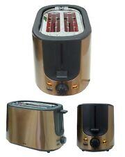 1000W Edelstahl Toaster integrierter Brötchenwärmer 7 Bräunungsstufen Rosegold