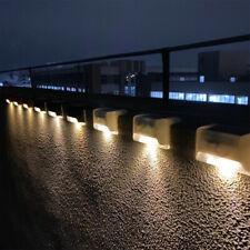 4PCS Solar LED Escalera Luz Al Aire Libre Jardín Paisaje Lámpara De Pared Patio