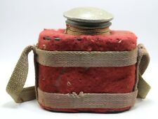 Vintage Indian Water kettle Cloth Cover Design travelling Zinc bottle. G23-82 US