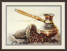 Counted Cross Stitch Kit Oven - The smell of coffee