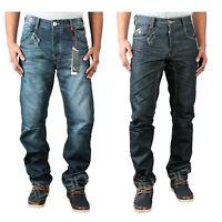 Brand New Men's ETO Classic Straight Leg Designer Denim Jeans Pants Sizes 28-42