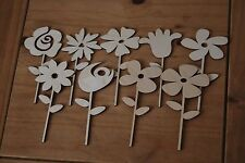 Set 9 pezzi di diversi un piccolo fiore Bella Decorazione m1 per decoupage