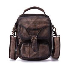 Men's Genuine Leather Messenger One Shoulder Bag Outdoor Camping Handbag