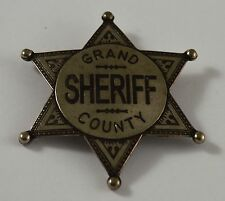 Silver Grand County Sheriff Badge -Ranger/Police/Cowboy Wild West Western US Law