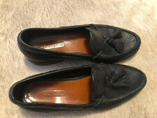 Coach Mens Black Leather Tassel Loafers Casual Dress Shoes Sz 9 N