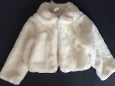 Gymboree NWT FESTIVE CELEBRATION White Plush Dressy Jacket Size XS 3-4