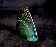 LALIQUE verde e opalescenti Smalto Farfalla (RARA)