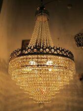 """Antique Vnt Gigantic Austrian Real Swarovski Crystal Chandelier 1940's 20"""" dmt--"""