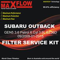 Maxflow® Suit Subaru Outback GEN5 3.6 Petrol 6 Cyl 3.6L EZ36D Filter Service Kit