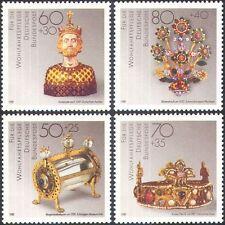 Allemagne 1988 Bijoux/OR/ARGENT/PIERRES/COURONNE/Art/Artisanat/SCULPTURE 4 V Set (n21386)