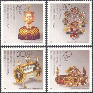 Germany 1988 Jewellery/Gold/Silver/Gems/Crown/Art/Craft/Carving 4v set (n21386)