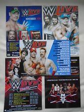 WWE Raw Wrestle Mania/Revenge NXT Takeover UK Tours 2014/15/16 promo flyers x 5