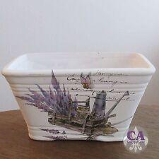 #10573 Deko Jardiniere Pflanztopf Lavendel Schmetterling Shabby Chic Provence