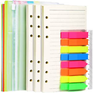 A6 Refill Paper 3 Pack 45PCS A6 Loose Leaf Paper 160PCS Neon Page 2 Pack NEW
