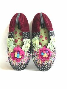 Mackenzie Childs Complements POMPANO Goody Goody SLIPPERS (Size Med.) NEW m21-au