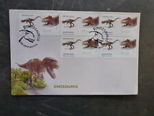 PORTUGAL 2015 DINOSAURS ALLOSAURUS SET 5 FRAMAS FDC FIRST DAY COVER