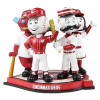 Cincinnati Reds Four Mascot Bobblehead Mr. Redlegs Mr. Red Rosie Red Gapper MLB