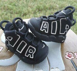 Nike Uptempo BLACK/WHITE BRAND NEW Toddler 3C