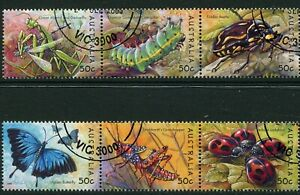 2003 Australia Bugs And Butterflies Set Of 6 Full Gum CTO Fine Used